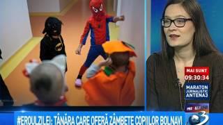 Eroul Zilei: Tânăra care oferă zâmbete copiilor bolnavi thumbnail