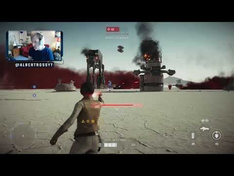 12 NEW Ski Speeder killstreak followed by 55 Leia killstreak Star Wars Battlefront: 2