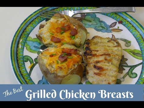 The BEST Grilled Chicken Breasts ~ Boneless Skinless Chicken Breasts ~ Amy Learns To Cook