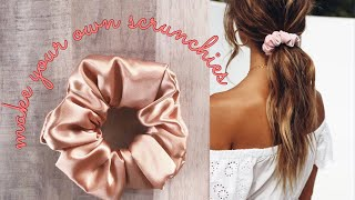 2 easy ways to make scrunchies at home! (Without sewing machine)