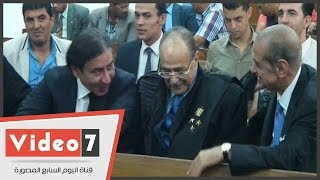 """بالفيديو..يرافقه فريد الديب..أمن مجلس الدولة يخصص قاعة لـ""""أحمد عز"""" بسبب التفاف المرشحين حوله"""