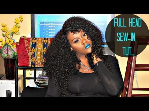 No-Part Sew in Braid Pattern with Sway Hair - KINKY TE ...