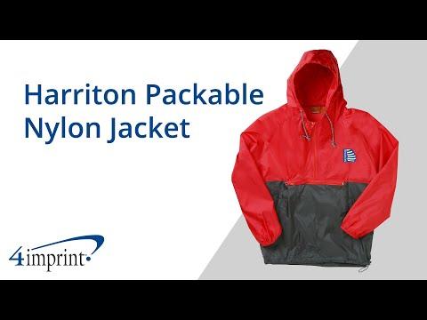 Harriton Packable Nylon Jacket - Promotional Products