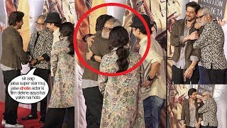 Sanjay Mishra Feels EMOTI0NAL & CRIES Hugging SRK Who Came To See & Promote His Film