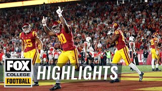 USC and third-string QB Matt Fink upset No. 10 Utah | FOX COLLEGE FOOTBALL HIGHLIGHTS