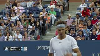 Nadal vs Gasquet -  SF Us Open 2013 Highlights HD