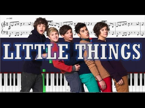 One Direction - Little Things - Piano Tutorial w/ Sheets