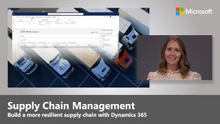 Supply Chain & Logistics Management in Dynamics 365