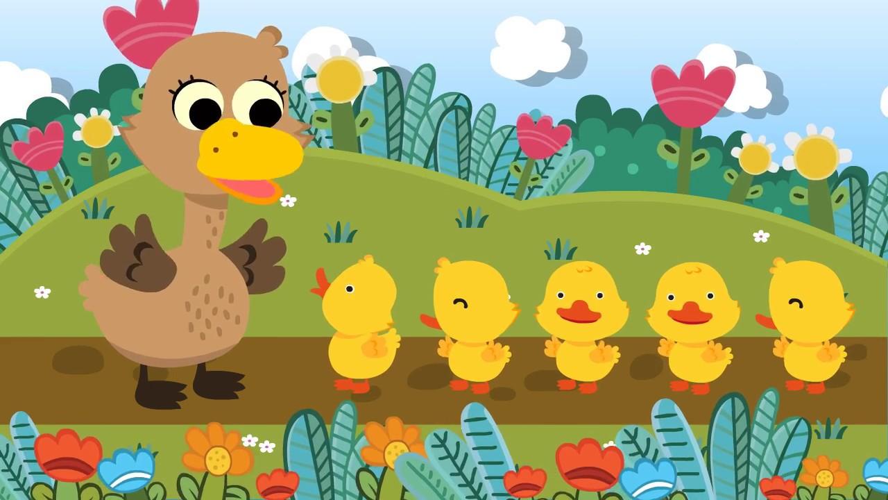 Five Little Ducks เพลงเป็ด 5 ตัว   nursury rhyme เพลงเด็กภาษาอังกฤษ
