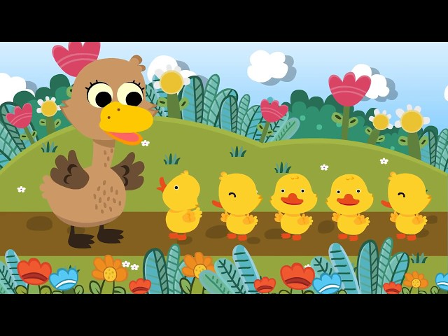 Five Little Ducks เพลงเป็ด 5 ตัว   nursury rhyme   kids song   เพลงเด็ก น้องนะโม