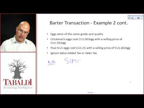 IAS18- Barter transaction class example 2