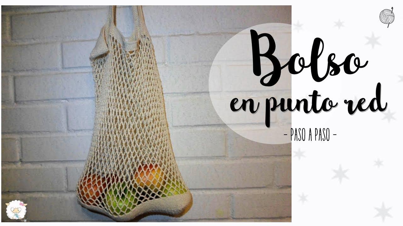 161ca7577 bolso en punto red o malla | crochet market bag - YouTube
