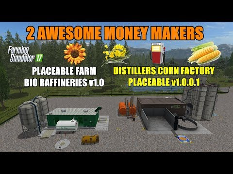 "Farming Simulator 17 - Distillers Corn Factory & Farm Bio Refineries ""Mod Review"""