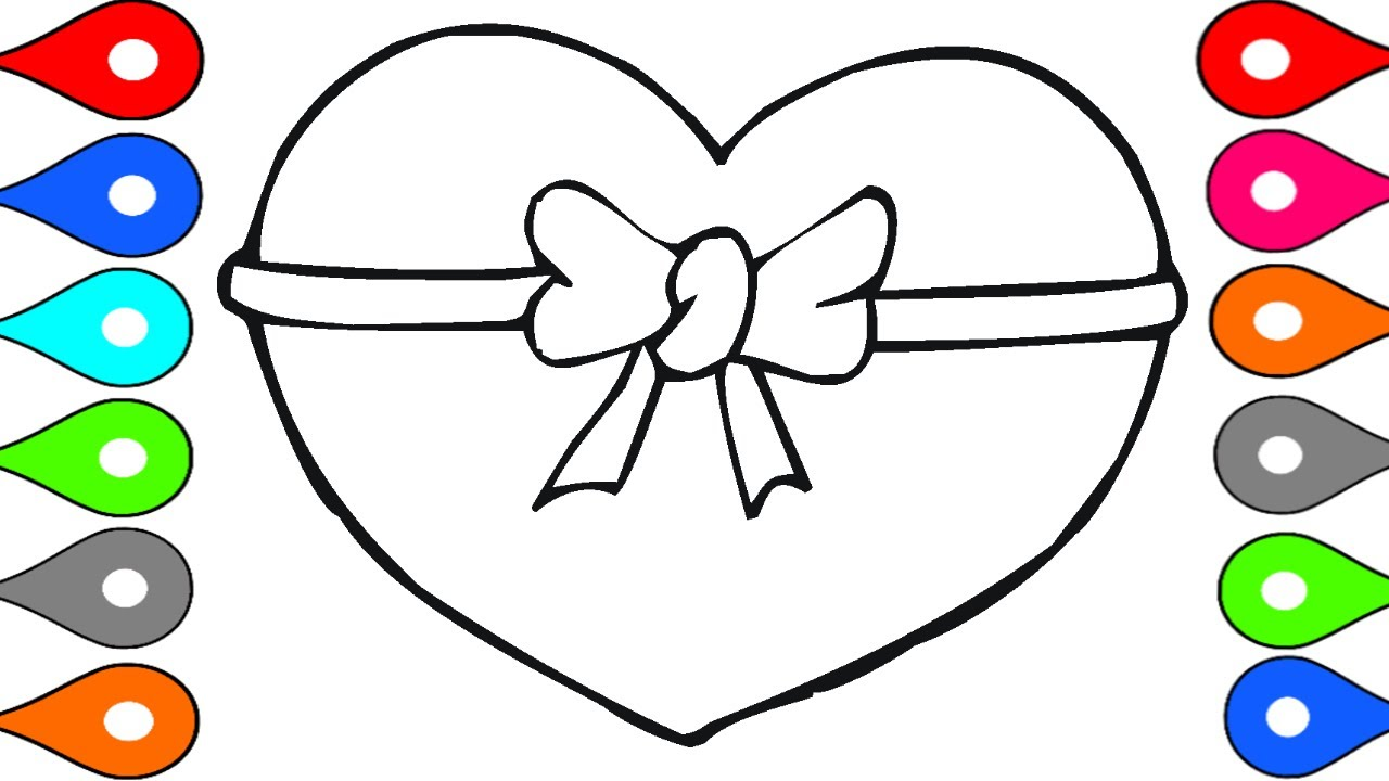 art for kids learn to draw heart shape painting for children drawing for baby heart coloring page - Children Drawing Pictures For Painting