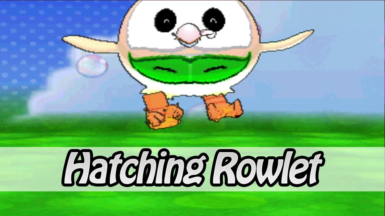 Hatching Rowlet Pokemon Omega Ruby Alpha Sapphire
