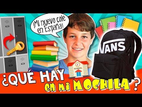 ¿Qué hay en MI MOCHILA? 🎒 TAG de la mochila MATEO 2017, en su nueva ESCUELA BRITÁNICA en ESPAÑA 🤔