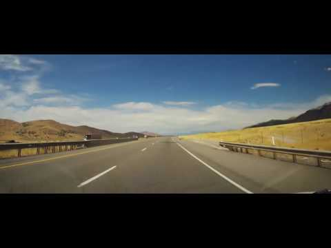 Driving on Interstate 15 from Nephi through Provo, Utah
