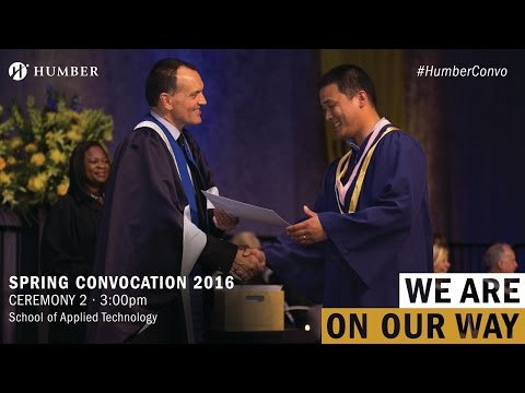 Humber Spring Convocation 2016 - School of Applied Technology
