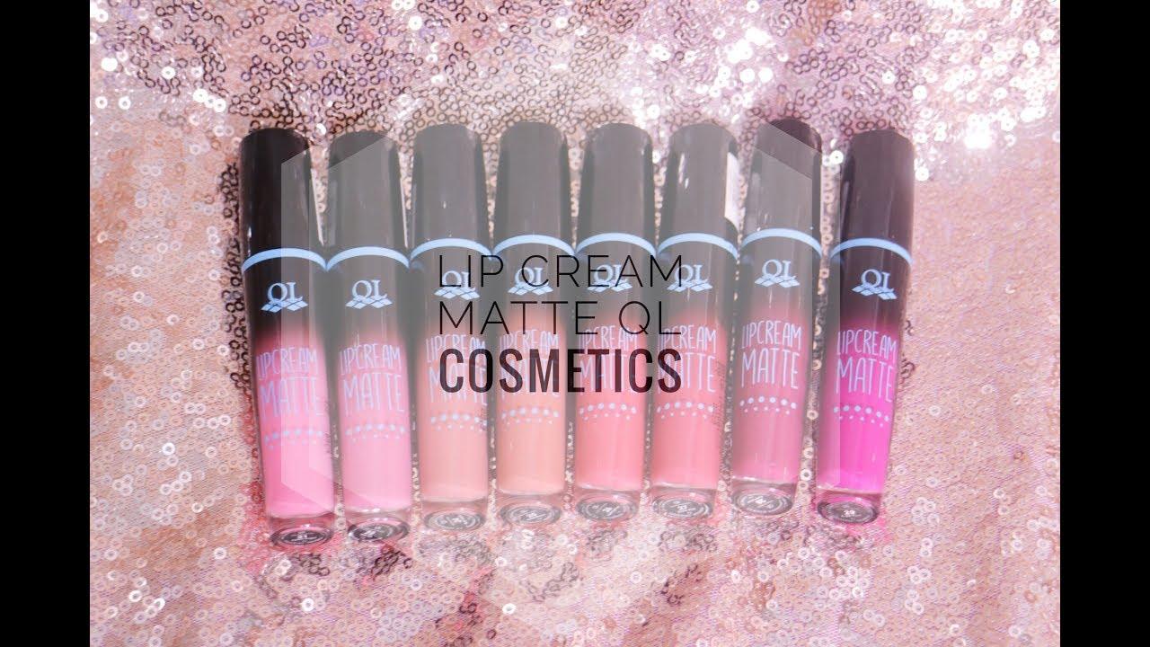 Lip Cream Matte Ql Cosmetics Swatches Review Laras Sita Faza Emina Lipstik Lipcream 03 Mauvelous