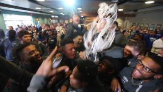 University of New Orleans celebrates their NCAA tournament placement New Orlean
