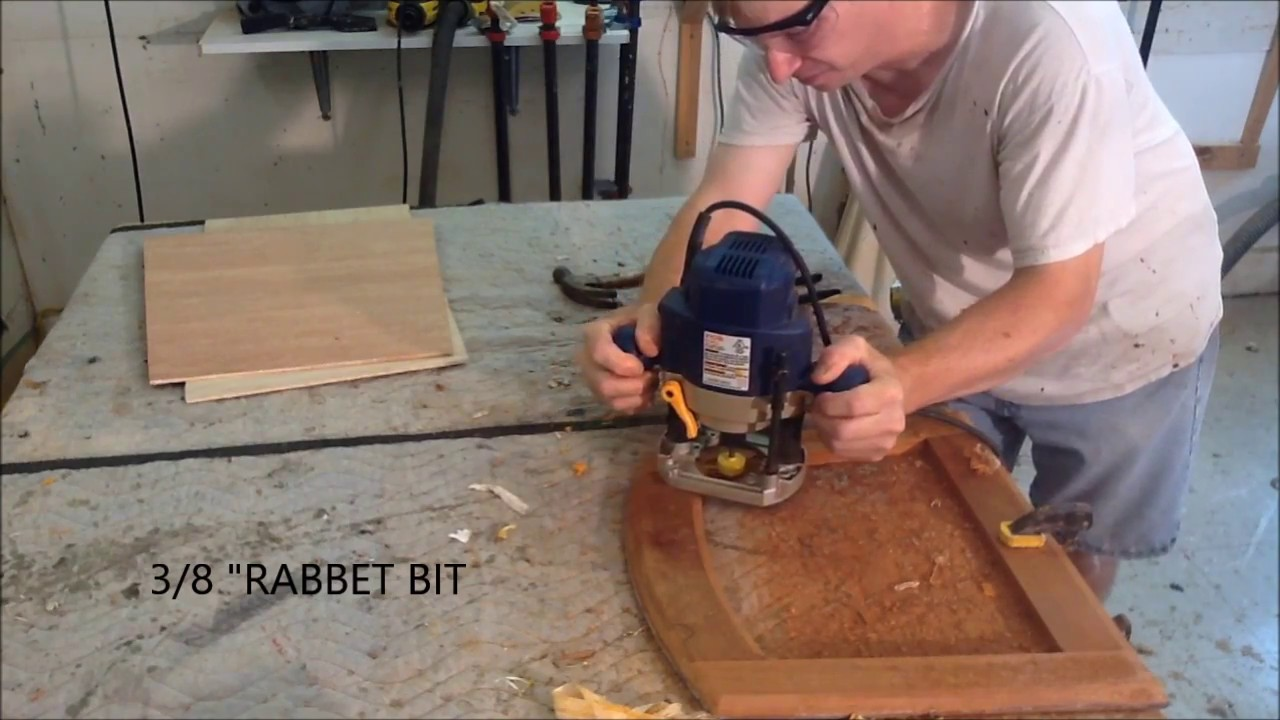 REPLACING DINING ROOM SEAT WEBBING WITH A PLYWOOD PANEL / FURNITURE REPAIR & REPLACING DINING ROOM SEAT WEBBING WITH A PLYWOOD PANEL / FURNITURE ...