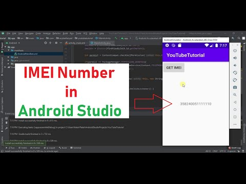 How To Get Imei Number In Android Studio Programmatically