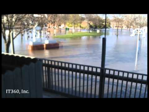 Time lapse of 2013 Illinois River flood in Peoria
