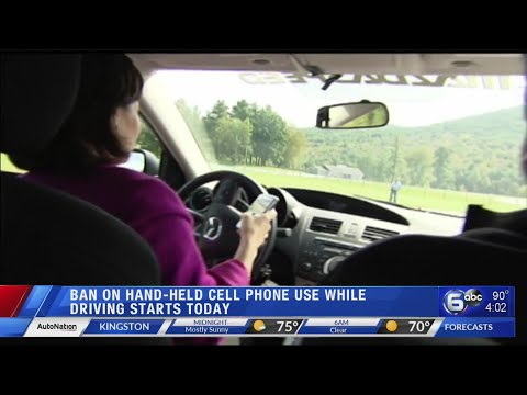 Ban on cell phone use while driving takes effect