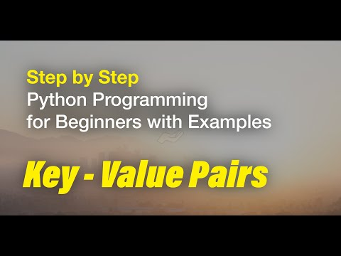 5/5 Step by Step Python tutorial for Beginners Course Dictionaries - working with key-value pairs thumbnail
