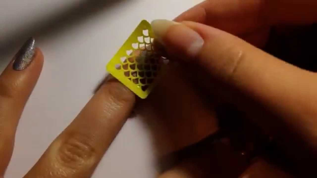 Fish scales nail stickrs vinyl stencil tutorial youtube prinsesfo Images