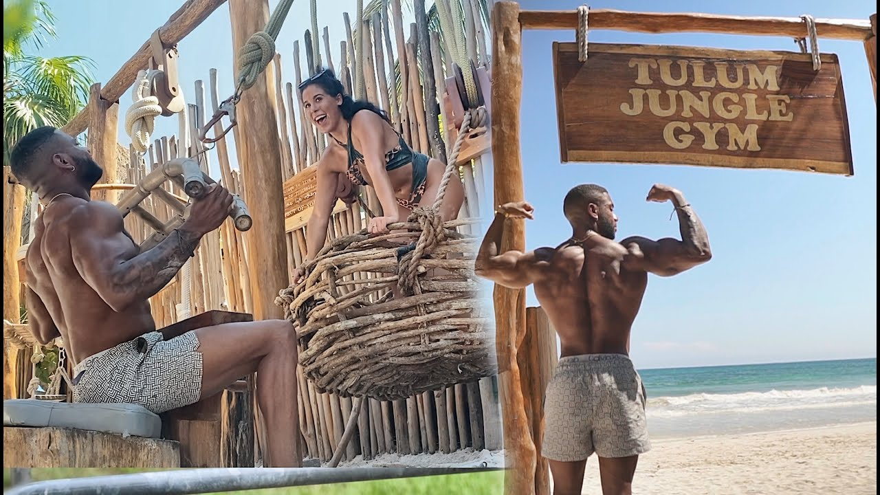 Working Out With My Crush In Mexico!   Tulum Jungle Gym