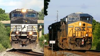 CSX & NS trains in Pennsylvanian ! (Summer 2013)