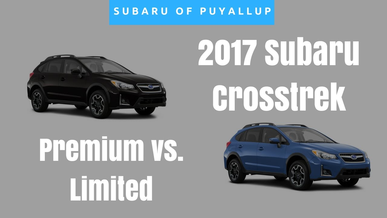 2017 subaru crosstrek limited vs premium comparison youtube. Black Bedroom Furniture Sets. Home Design Ideas