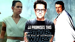 Star Wars! JJ Abrams Promises THIS For The Rise Of Skywalker! (Star Wars Episode 9)