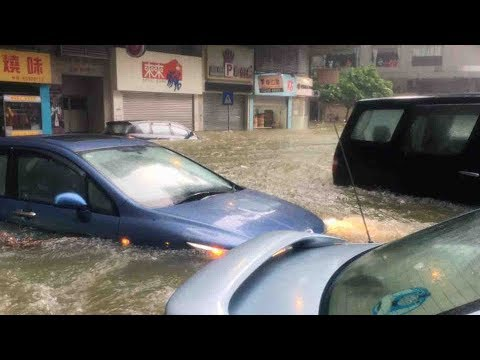 Severe typhoon makes landfall in Macao