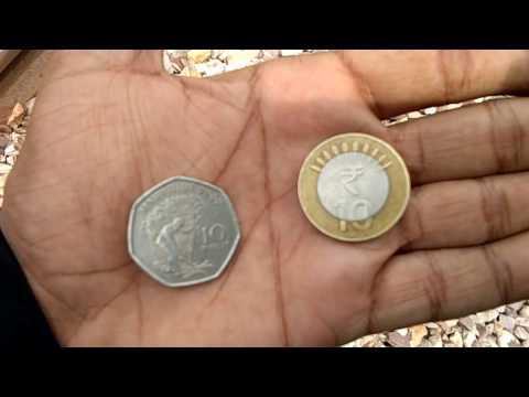 MAURITIUS VS INDIA 10 RUPEES COIN On Train Track Experiment Fail