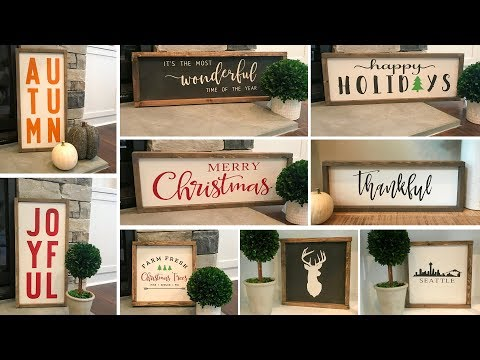 DIY 9 Wood Signs out of 1 Project Panel