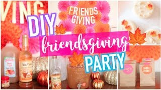 DIY Friendsgiving Party! Treats, Decor + More for the Holidays!
