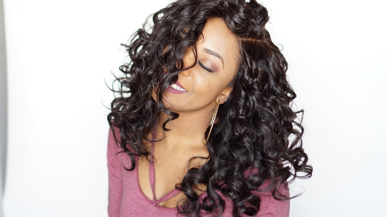 How to curl and style human hair extensions  Wig  No heat  Easy flexi rods