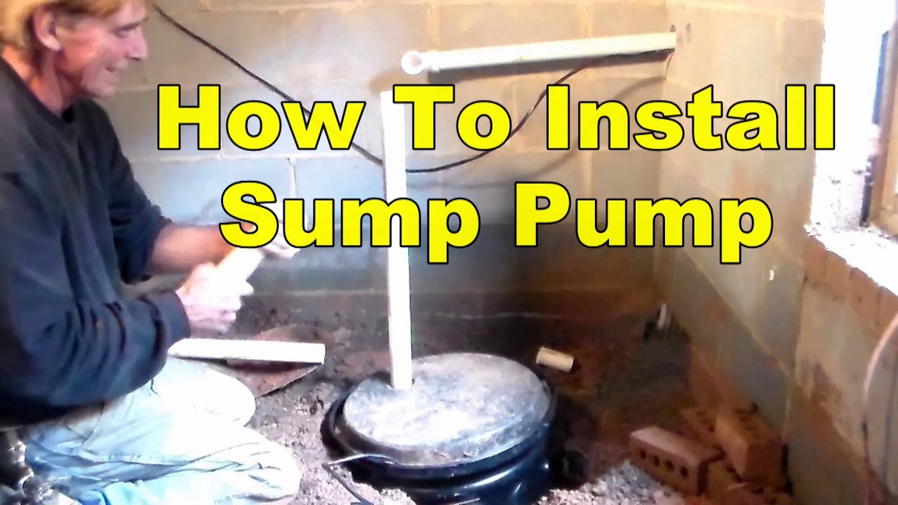 How To Install Sump Pump In Crawl Space