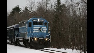 [HD] Rare! Pan Am OCS chase on the Central Maine and Quebec Railway