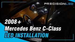 mercedes benz c class led install w204 2008