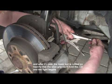 BMW 3 Series E46 front sway bar link replacement - DIY