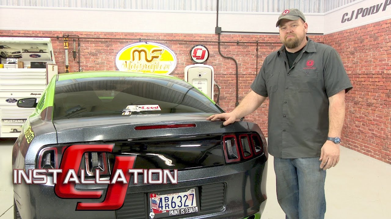 Mustang Decklid Panel Smooth Black 2010 2014 Installation Youtube
