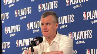Thunder vs Blazers Game 4 - Billy Donovan