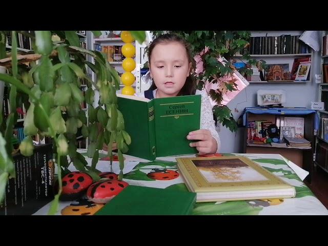 Изображение предпросмотра прочтения – «библиотека село Архангельское» читают произведение «Черёмуха» С.А.Есенина