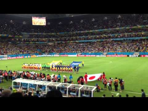 World Cup 2014: Japan vs Ivory Coast National Anthem