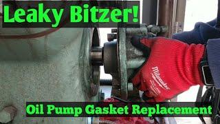 HVAC/Refrigeration- Pulling The Oil Pump on a Bitzer Compressor