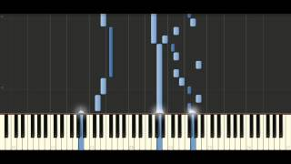 Bach -  Sinfonia in e minor, BWV 793 - Piano Tutorial Synthesia