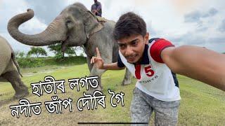 Enjoying with Elephant 🐘🐘